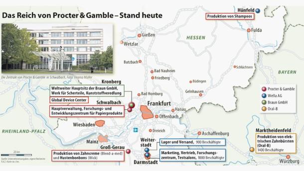 Infografik / Karte / Das Reich von Procter & Gamble