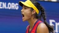 Die Britin Emma Raducanu gewinnt die US Open.