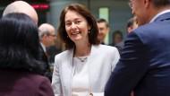 Bundesjustizministerin Katharina Barley im März in Brüssel