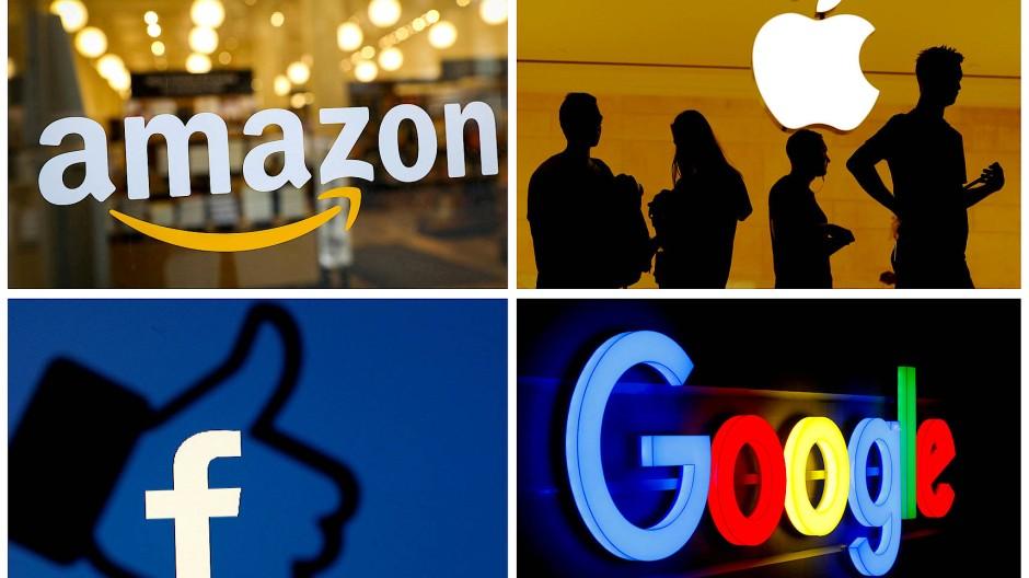 Die großen Internet-Unternehmen sollen in ihrer Marktmacht eingeschränkt werden: Amazon, Apple, Facebook und Google