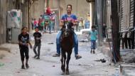Gelöste Stimmung auf den Straßen von Aleppo: Die Feuerpause hält.