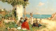 """Klischee, helle Variante: """"Zigeuner am Strand"""" von Guillermo Gomez y Gil"""