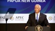 Amerikas Vizepräsident Mike Pence spricht in Papua-Neuguinea.