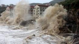 Chinesische Ostküste unter Wasser