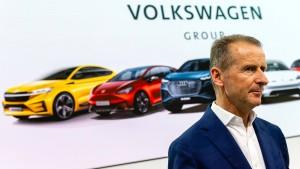 """VW-Chef Diess bedauert """"Ebit macht frei"""""""