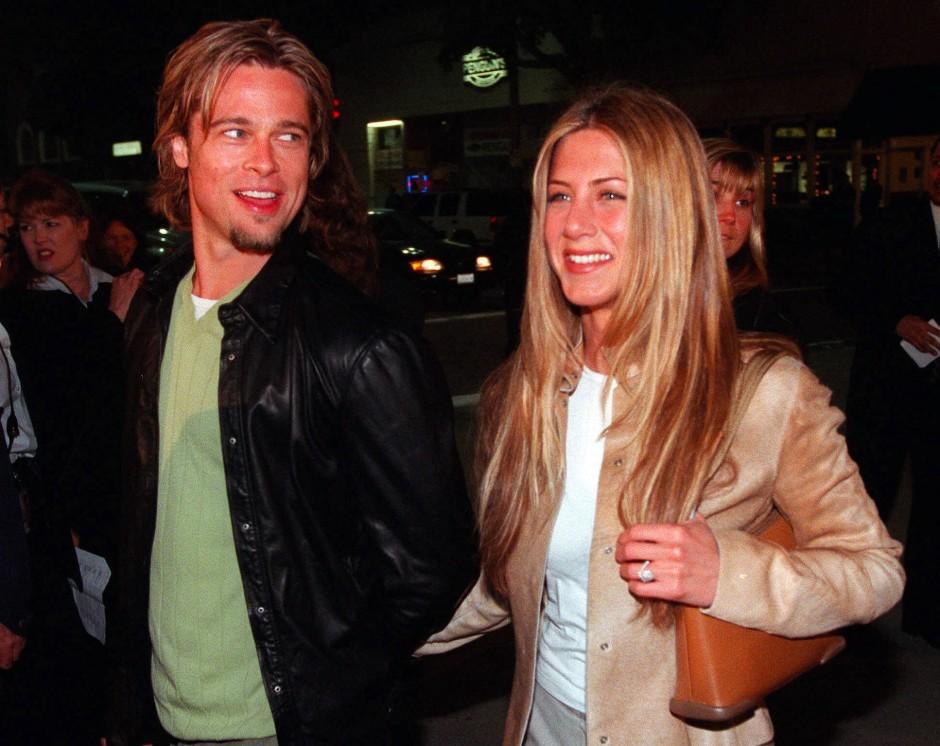 Die Ex: Brad Pitt im Jahr 2000 mit Jennifer Aniston.