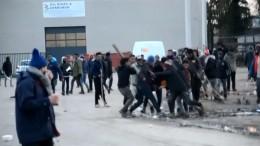Gewaltausbruch in Calais