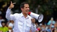 Der selbsternannte Übergangpräsident von Venezuela, Juan Guaidó, ruft seine Anhänger zu einem landesweiten Protestmarsch in die Hauptstadt Caracas auf.