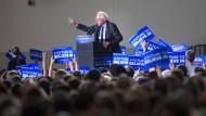 Bernie Sanders hat in Alaska und Washington Rückenwind bekommen.