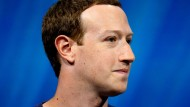 Facebook-Chef Mark Zuckerberg im Mai 2018 auf einen Technik-Kongress in Paris