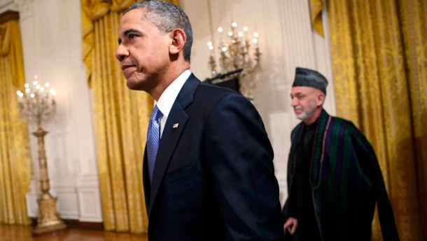 Barack Obama and Afghan President Karzai