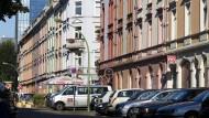 Eine Häuserzeile im Frankfurter Nordend