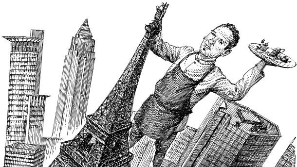 In Frankfurt steht ein Eiffelturm