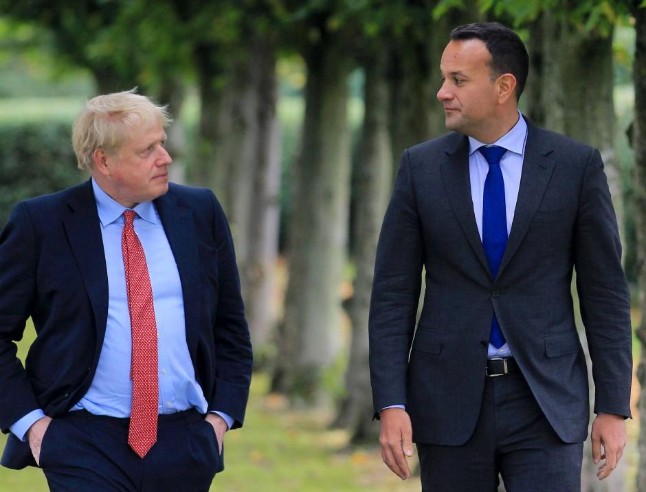 Wohl ein historisches Treffen: Boris Johnson und Leo Varadkar in Thornton Manor