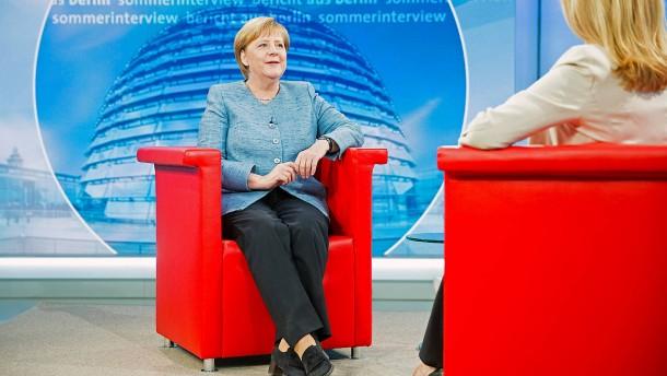 Merkel verzichtet auf Sommerinterviews bei ARD und ZDF