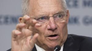 Schäuble für harte Haltung bei Brexit-Verhandlungen