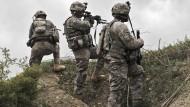 Amerikanische Soldaten am 11. April in Ibrahim Khel in Afghanistan