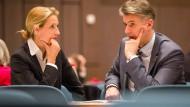 Alice Weidel und Marc Jongen: Sie ist nominiert für den Haushaltsausschuss, er für den Kulturausschuss.