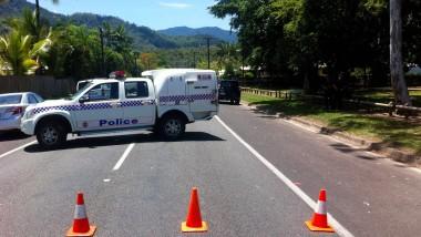 Die australische Polizei hat in Cairns das Gelände um das Haus weiträumig abgesperrt.