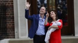 William und Kate treten mit drittem Kind vor die Kameras
