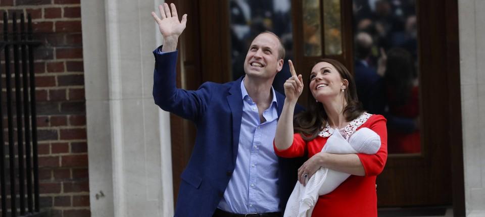 Royaler Nachwuchs Prinz William Und Herzogin Kate Treten Mit