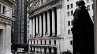 Die New Yorker Börse: An der Wall Street warten Händler gespannt auf die anstehende Quartalssaison.