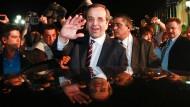 Die Macht steht ihm offen: Antonis Samaras nach Verkündung der Wahlergebnisse am Sonntagabend