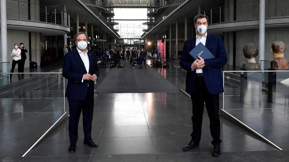 Konkurrieren um die Kanzlerkandidatur: Armin Laschet und Markus Söder