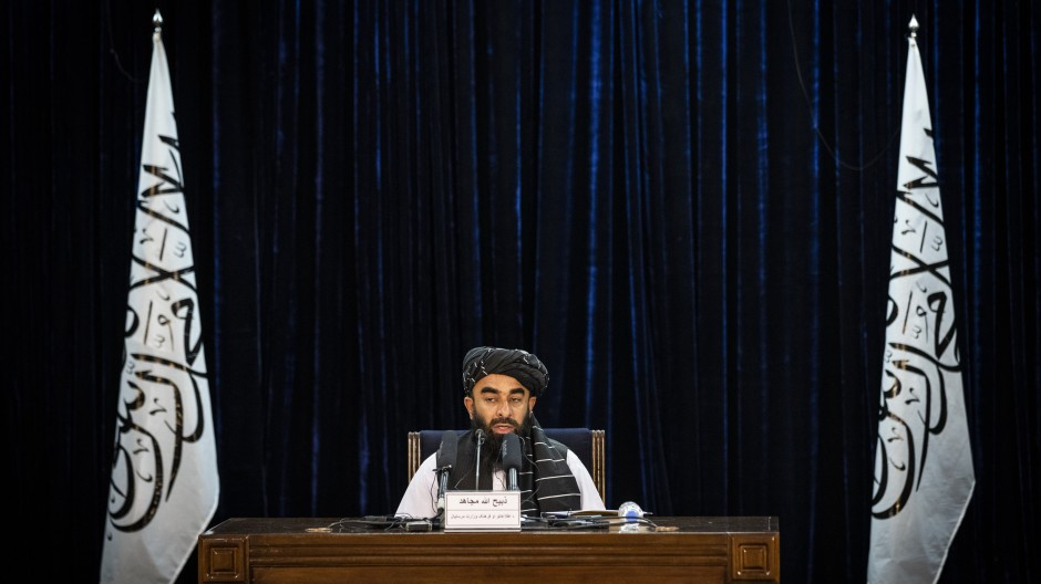 Ein Regierungssprecher des neuen Taliban - Kabinetts (Quelle: AP Photo)