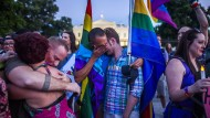 Trauer vor dem Weißen Haus um die Opfer von Orlando