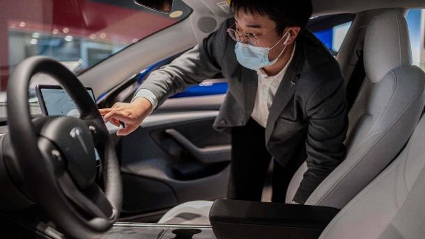 In China ist Tesla den Deutschen enteilt