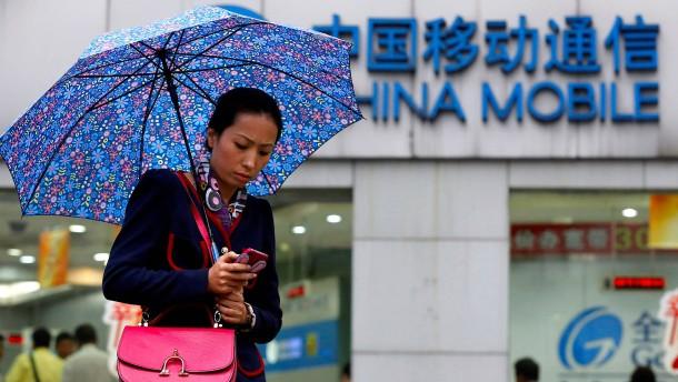 Amerika lässt den größten Mobilfunkanbieter der Welt nicht rein
