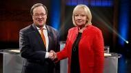 CDU-Spitzenkandidat Armin Laschet und Ministerpräsidentin Hannelore Kraft (SPD)
