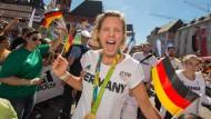 """Laura Ludwig beim Olympia-Empfang in Frankfurt: """"Ich bin so fit wie noch nie"""""""