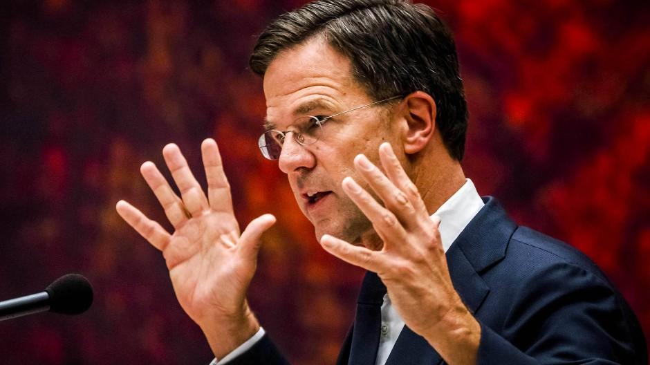 Hollands Ministerpräsident Mark Rutte Anfang Juni in Den Haag