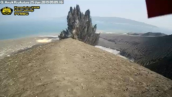 Überwachungskamera filmt Vulkanausbruch