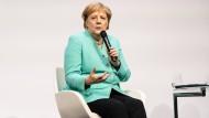 Angela Merkel stellte sich auf der F.A.Z. Kongress den Fragen von Herausgeber Berthold Kohler sowie von Leserinnen und Lesern.