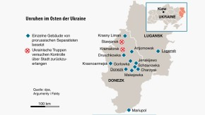Infografik / Unruhen im Osten der Ukraine