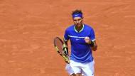Rafael Nadal nach seinem Sieg gegen Roberto Bautista Agut