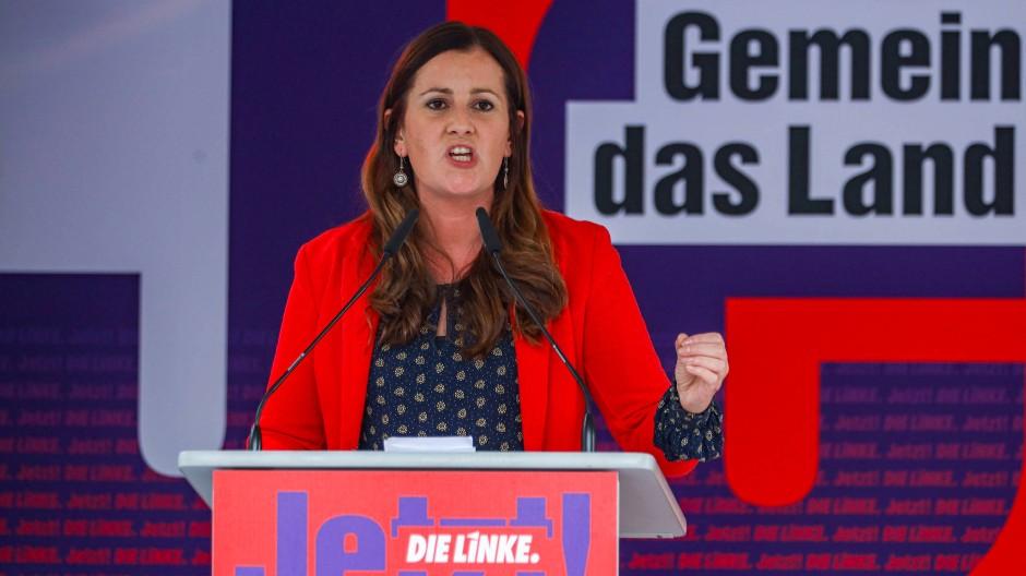 Einer Koalition zugeneigt: Janine Wissler, die Vorsitzende der Linkspartei