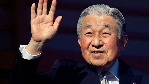 Japans Kaiser Akihito grüßt sein Volk ein letztes Mal zu Neujahr