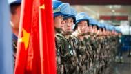 China stellt mehr Blauhelmsoldaten als die anderen vier Vetomächte im UN-Sicherheitsrat zusammen.
