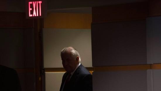 Tillerson verabschiedet sich