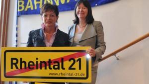 Rheinland-Pfalz will neue Bahnstrecke im Rheintal