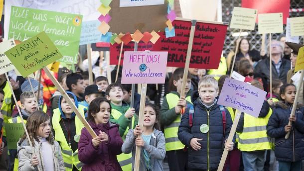 Kinder fordern Klassenlehrer