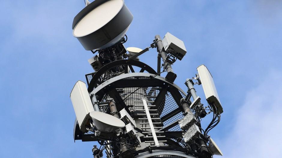 Ein Sendemast für den Mobilfunk-Standard 5G