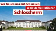 SPD Berlin wirbt mit Steinmeier, Union erbost