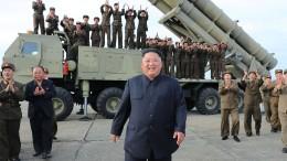 """Nordkorea feiert Test von """"extragroßer Mehrfachabschussvorrichtung"""""""