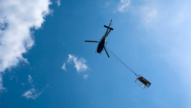 EDF Helicopter Gorges du Verdon Provence France