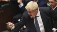 Wer der erste Mann in Westminster bleiben will, muss die Kunst des polemischen Fingerzeigs beherrschen. Boris Johnson in der Fragestunde des Unterhauses am 23. Oktober 2019